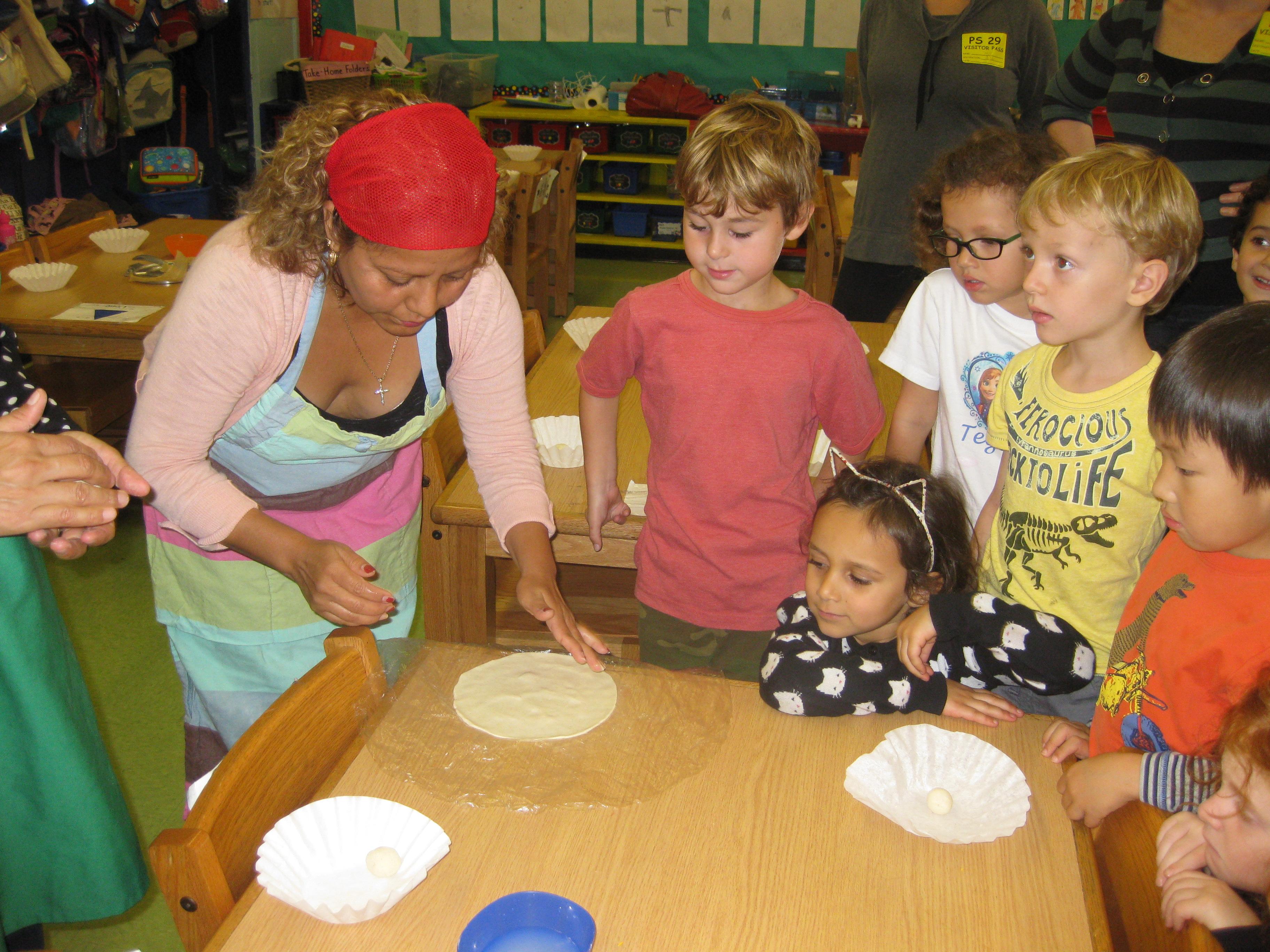 Tortilla Making during Harvest Week
